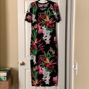 G.I.L.I. Maxi Dress Quality Fabric Vibrant Color